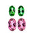 Ravishing Matching Earring Set of Pink Tourmaline & Chrome Tourmaline - shoprmcgems