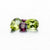 Lustrous Matching Earrings Set of Rhodolite & Peridot