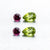 Beautiful Matching Earring Set of Natural Rhodolite & Natural Peridot