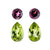Matching Earring Set of Natural Rhodolite & Natural Peridot
