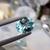 Natural Paraiba Tourmaline 0.70 CT 7X5.5x3.2 MM Oval Checkerboard