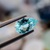 Natural Paraiba Tourmaline 1.12 CT 9x6X3.7 MM Pear Checkerboard