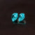 Astonishing Natural Pair Paraiba Tourmaline2 CT 7 MM Trillion Cut