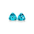 Astonishing Natural Pair Paraiba Tourmaline  2 CT 7 MM Trillion Cut