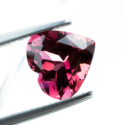 Sparkling Pink Tourmaline 2.77 CT 9.50 MM Heart Shape - shoprmcgems