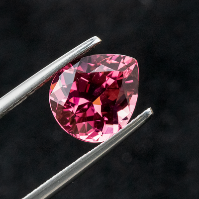 Sparkling Loupe Clean Pink Tourmaline 3.95 CT 11X9.5X6.5 MM Pear - shoprmcgems
