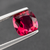 Natural Rubellite Tourmaline From Brazil Excellent Color 2.45 CT Cushion 8.4 MM