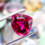 Beautiful Natural Rubellite Tourmaline From Brazil 4.25 CT Heart Shape 10.5X11X6.6 MM - shoprmcgems