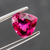 Natural Rubellite Tourmaline From Brazi 3.08 CT Heart Shape 9.7X10X5.7 MM - shoprmcgems