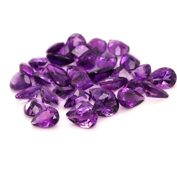 African Amethyst 20.51 CT 7X5 MM Pear Shape. - shoprmcgems