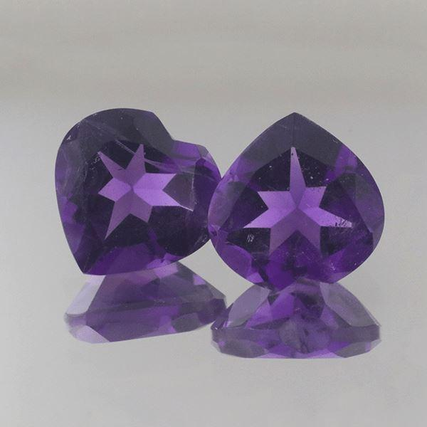 African Amethyst 5.80 CT 10 MM Heart - shoprmcgems