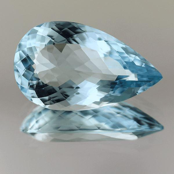 Aquamarine 10.93 CT 21.35x11.75 MM Pear - shoprmcgems