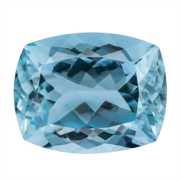 Aquamarine 7.34 CT 13.8x10.9 MM Cushion - shoprmcgems