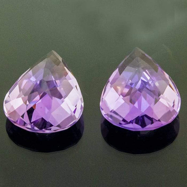 Brazilian Amethyst 13.09ct 16x12mm Pear. - shoprmcgems