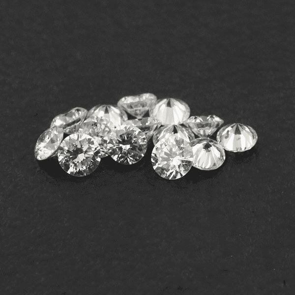 Loose Lab Grown Diamond 0.64 cts 2.40 mm Round VVS Clarity - shoprmcgems
