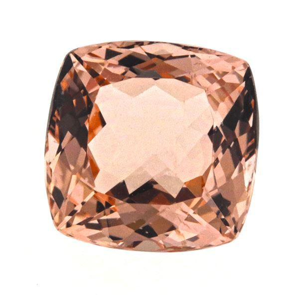 Morganite 5.85 CT 11 MM Cushion Gemstones RMCGEMS
