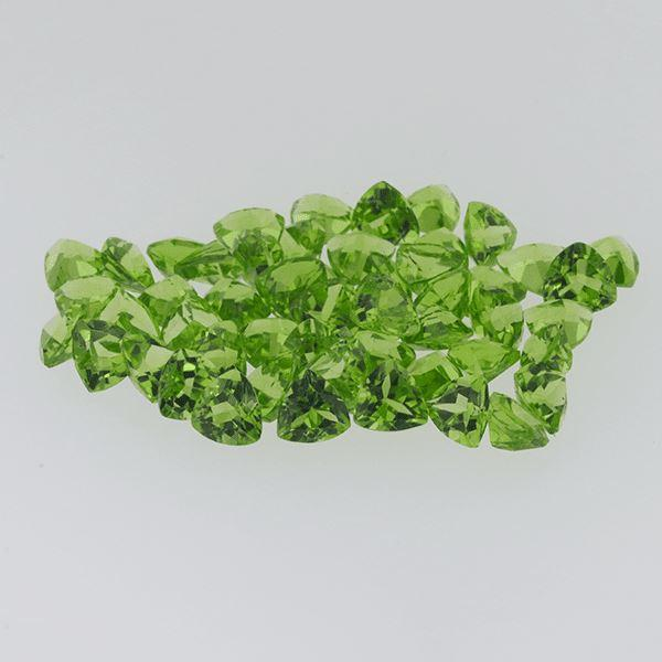 Peridot 43.70ct 6mm Trillion - shoprmcgems