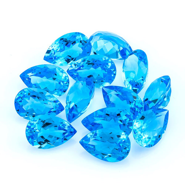 Swiss Blue Topaz 12X8 MM Pear - shoprmcgems
