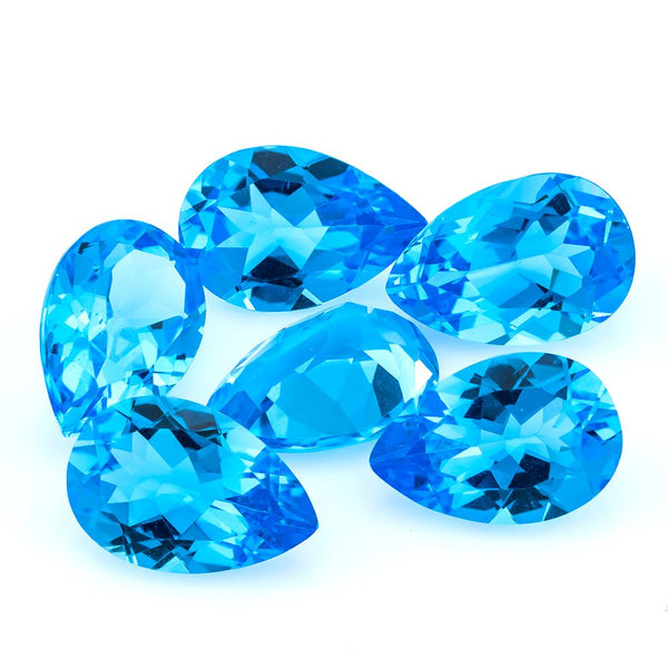 Swiss Blue Topaz 15X10 MM Pear - shoprmcgems