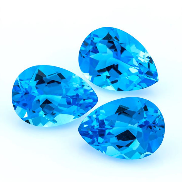 Swiss Blue Topaz 18X13 MM Pear - shoprmcgems