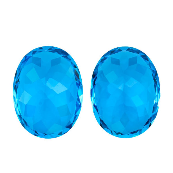 Swiss Blue Topaz 20X15 mm Oval - shoprmcgems