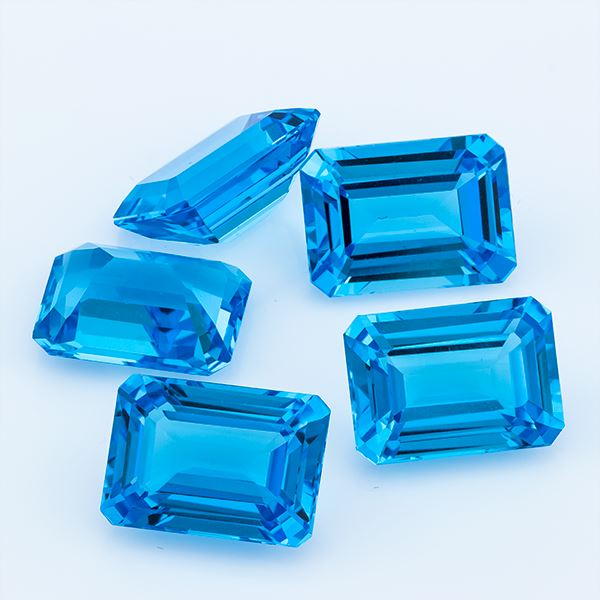 Swiss Blue Topaz 46.52 CT 14X10 MM Octagon - shoprmcgems