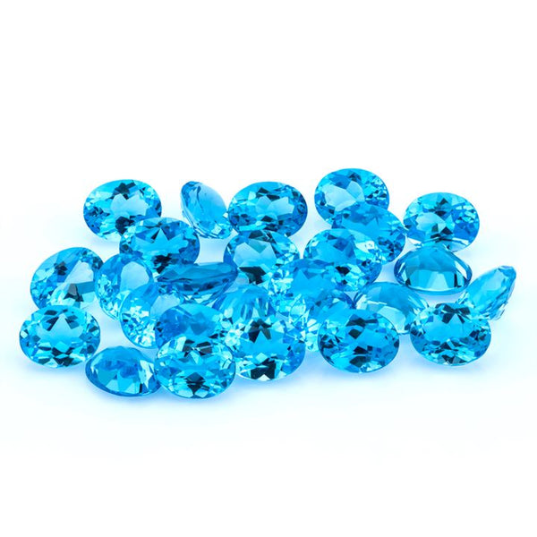 Swiss Blue Topaz 9X7 MM Oval - shoprmcgems