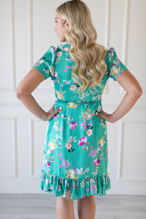Amalfi Green Floral Dress - IZABELLA + EVE