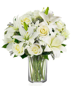 WHITE ROSE & LILIES