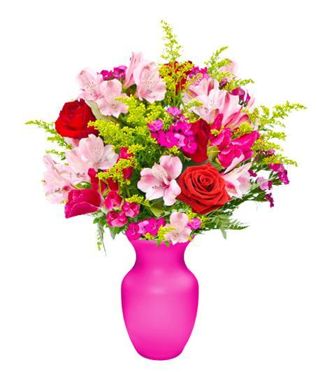 FEMININE MIX PASTELS IN VASE