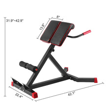 Load image into Gallery viewer, Adjustable Roman Chair -A Hyper Ab Bench for Ab/Back Extension/