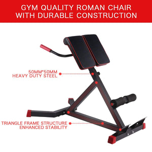 Adjustable Roman Chair -A Hyper Ab Bench for Ab/Back Extension/