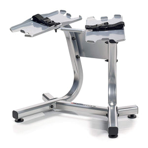 Bowflex  SelectTech Metal Dumbbell Stand with Built-in Towel Rack, Silver