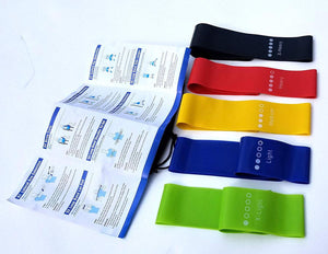 Set of 5 Premium Quality Resistance Bands