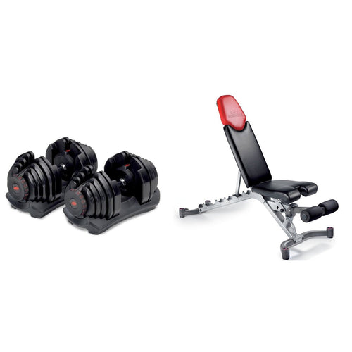 Bowflex® SelectTech® 1090 Dumbbells (Set Of 2) & Bowflex 5.1 Adjustable Bench