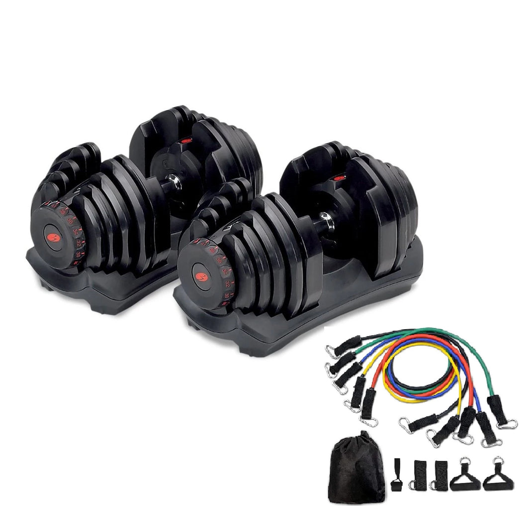 Bowflex® SelectTech® 1090 Dumbbells (Set Of 2) &  Set of 5  Resistance Bands Set