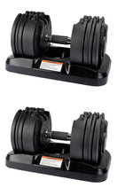 Load image into Gallery viewer, Adjustable Dumbbells, 45 pounds (Set Of 2)