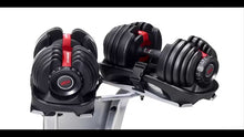 Load image into Gallery viewer, Bowflex® SelectTech® 552 Adjustable Dumbbells (Set Of 2) & Resistance Band Set
