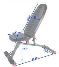 Load image into Gallery viewer, Adjustable Weight Bench for Full Body Workout