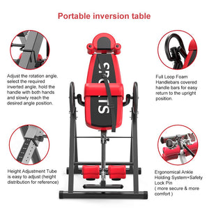 Gravity Heavy Duty Inversion Table with Headrest & Adjustable Protective Belt