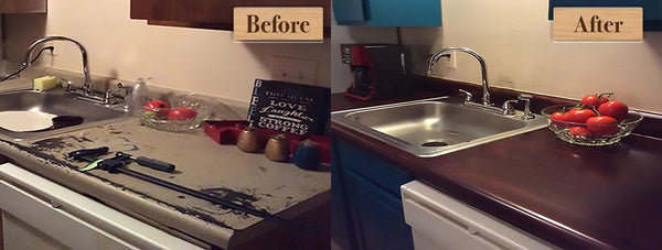 FAQ: Does Retique It® Liquid Wood work for Counter tops