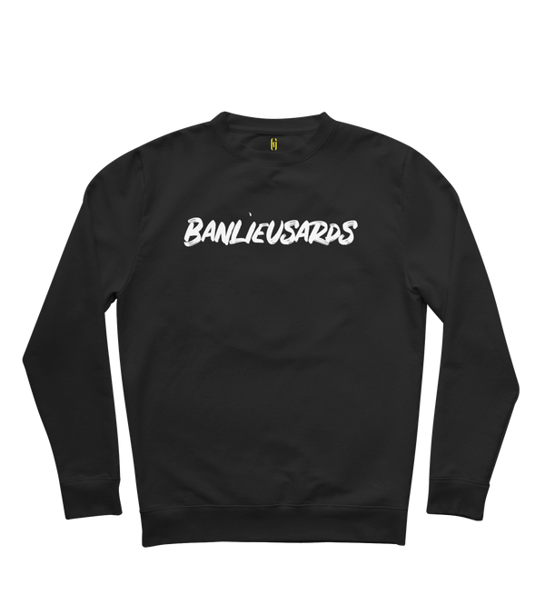 "Sweat col rond | ""Banlieusards"" - Noir/Blanc"