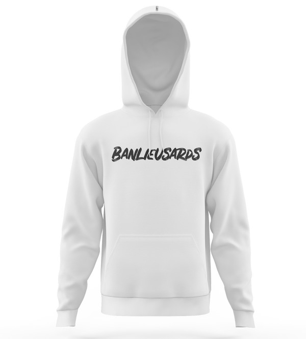 "Sweat-capuche | ""Banlieusards"" - Blanc/Noir"