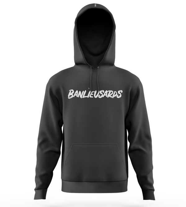 "Sweat-capuche | ""Banlieusards"" - Noir/Blanc"