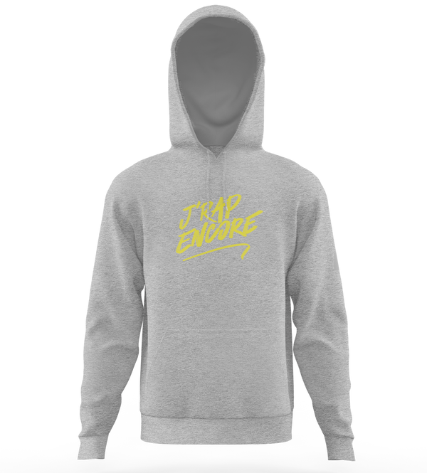 "Sweat-capuche ""J'rap encore"" - Chine/Jaune"