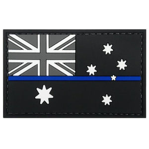 Australia Flag Thin Blue Line PVC Patch