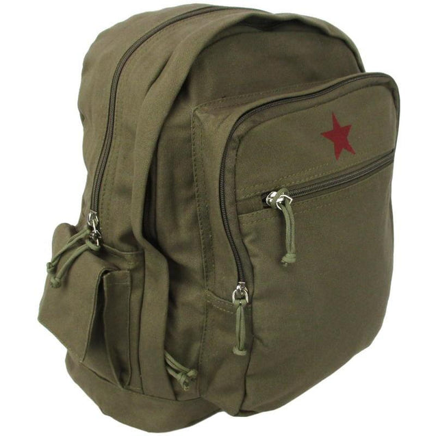 Red Star Canvas Day Pack