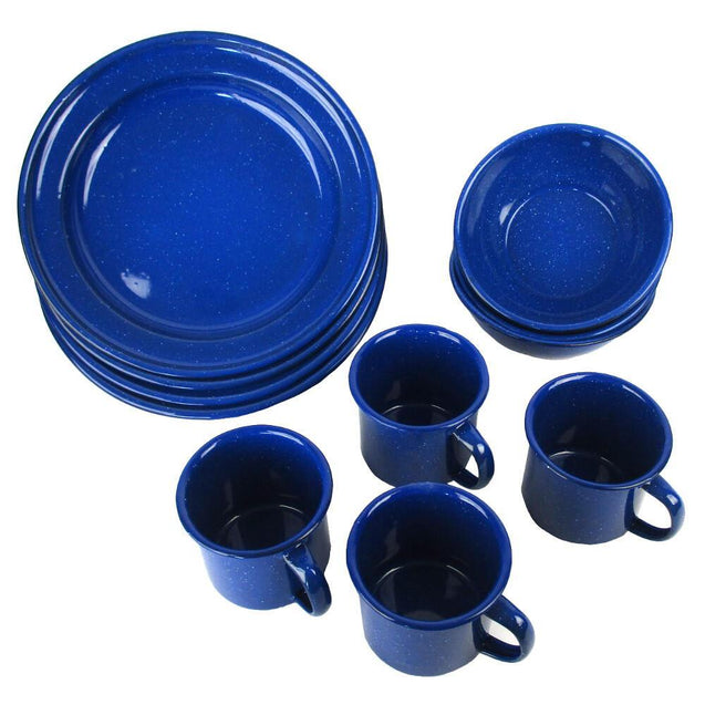 Enamel 12 Piece Dinnerware Set