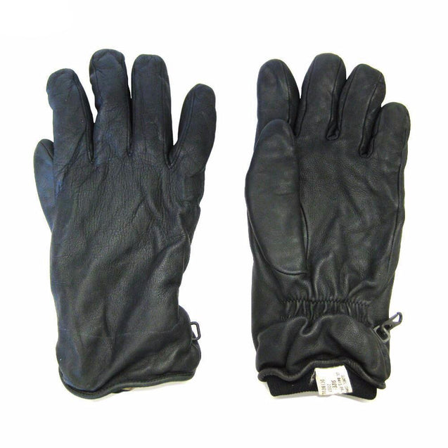British 95 Black Leather Gloves