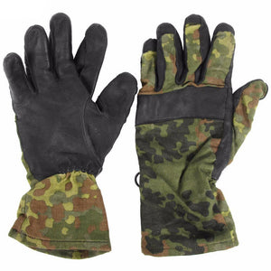 Flecktarn Leather Gloves